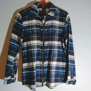Chaps Blue Flannel